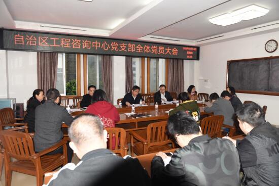 自治区工程咨询中心党支部召开全体党员大会